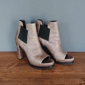 All Saints open toe booties